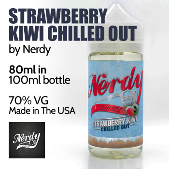 Strawberry Kiwi Chilled Out - by Nerdy eJuice - 70% VG - 80ml