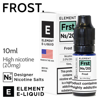 Frost - ELEMENT NicSalt high nicotine e-liquid - 10ml