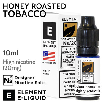 Honey Roasted Tobacco - ELEMENT high nicotine e-liquid - 10ml