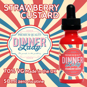 Strawberry Custard - Dinner Lady e-liquids - 70% VG - 50ml