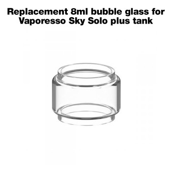 Replacement 8ml bubble glass for Vaporesso Sky Solo Plus tank