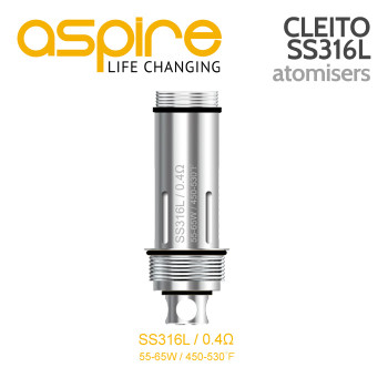 5 Pack - Aspire Cleito 0.4ohm SS316L Atomisers