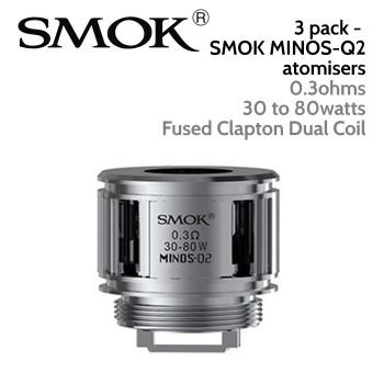 3 pack - SMOK Minos-Q2 atomisers - 0.3ohm