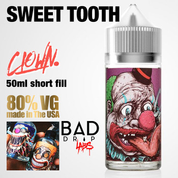 Sweet Tooth Clown e-liquid by Bad Drip Labs - 80% VG - 50ml