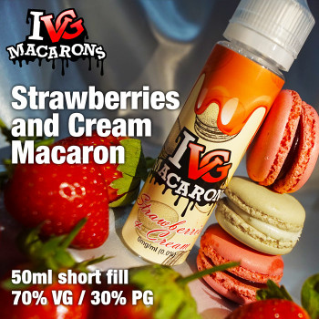 Strawberries and Cream Macaron by I VG e-liquids - 50ml
