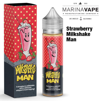 Strawberry Milkshake Man e-liquid - Max VG - 50ml