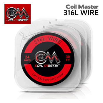Coil Master 316L Stainless Steel Wire. Available in various gauges – all 30ft long. Gauges: 22ga, 24ga, 26ga, 28ga, 30ga.
