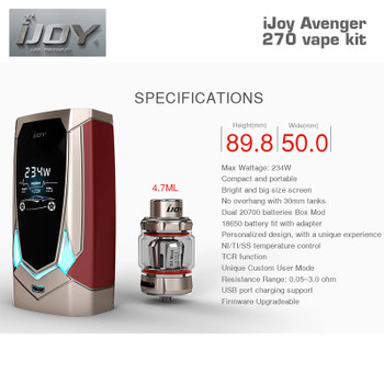 iJoy Avenger 270 vape kit