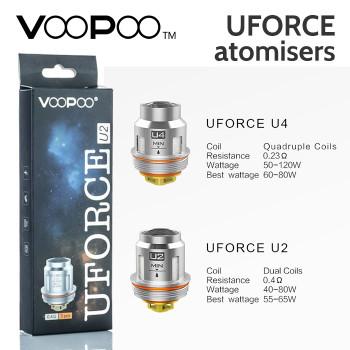5 pack – VOOPOO UFORCE Atomisers