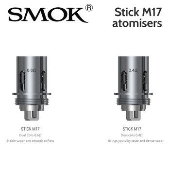 Pack of five SMOK Stick M17 dual coil atomisers