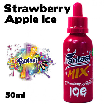 Strawberry Apple Ice - Fantasi e-liquids - 70% VG - 50ml