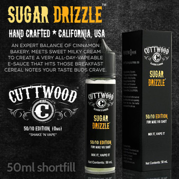 Sugar Drizzle e-liquid – Cuttwood Vapor – 70% VG – 50ml