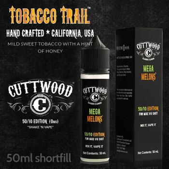 Tobacco Trail e-liquid – Cuttwood Vapor – 70% VG – 50ml