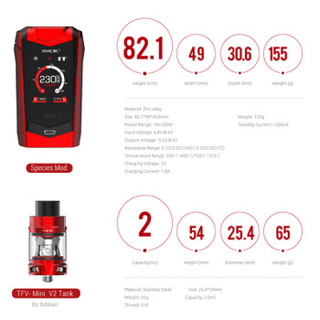 SMOK Species Kit - 230w Mod + TFV Mini V2 Tank (2ml)