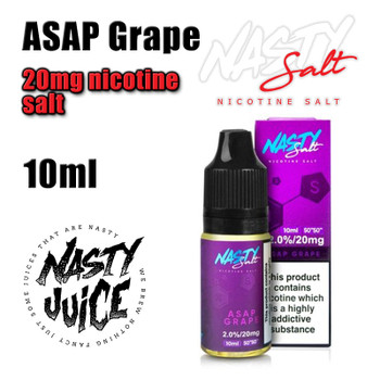 ASAP Grape – Nasty Salts e-liquid – 10ml - 20mg nicotine salt