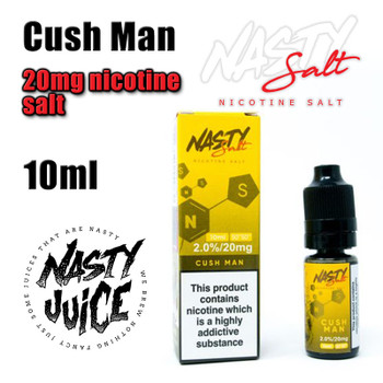 Cush Man – Nasty Salt e-liquid – 10ml - 20mg nicotine salt