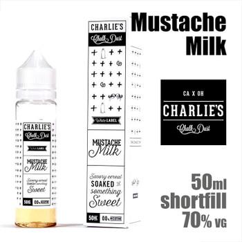 Mustache Milk - Charlies Chalk Dust e-liquids - 50ml