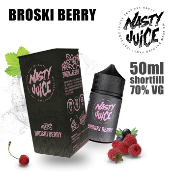 BROSKI BERRY - Nasty e-liquid - 70% VG - 50ml