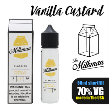 Vanilla Custard e-liquid by The Milkman – 70% VG – 50ml