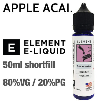Apple Acai - ELEMENT e-liquid - 80% VG - 50ml