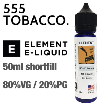 555 Tobacco - ELEMENT e-liquid - 80% VG - 50ml