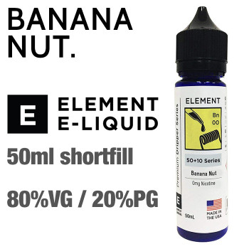 Banana Nut - ELEMENT e-liquid - 80% VG - 50ml