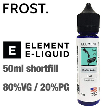 Frost - ELEMENT e-liquid - 80% VG - 50ml