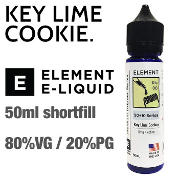 Keylime Cookie - ELEMENT e-liquid - 80% VG - 50ml