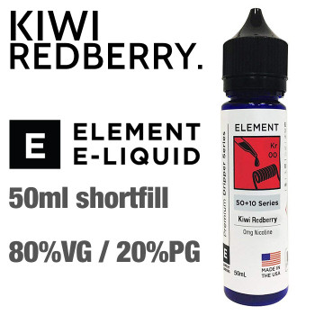 Kiwi Redberry - ELEMENT e-liquid - 80% VG - 50ml