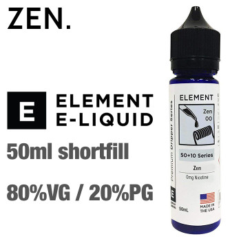 Zen - ELEMENT e-liquid - 80% VG - 50ml