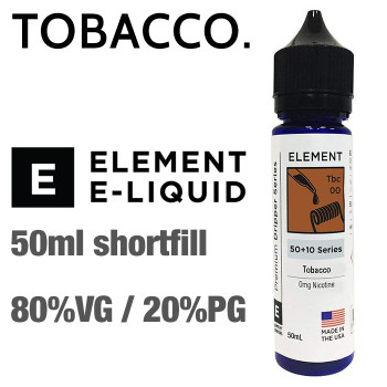 Tobacco - ELEMENT e-liquid - 80% VG - 50ml