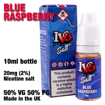 Blue Raspberry – I VG Salt Nic e-liquids – 50% VG – 10ml - 20mg nicotine