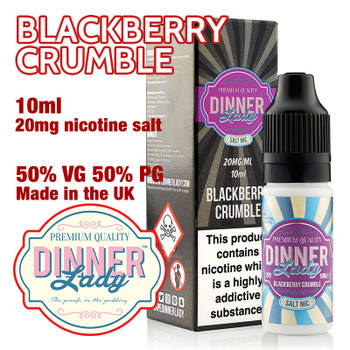 Blackberry Crumble – Dinner Lady Salt Nic e-liquids – 50% VG – 10ml - 20mg nicotine