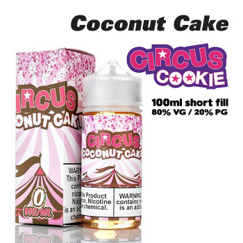 Circus Coconut Cake eliquid – 80% VG – 100ml