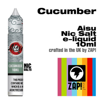 Cucumber - Aisu NicSalt e-liquid made by Zap! 20mg - 10ml