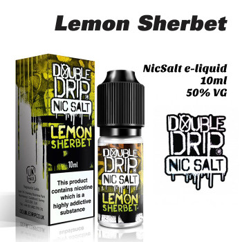 Lemon Sherbet - Double Drip NicSalt e-liquid 10ml - 20mg