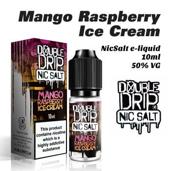 Mango Raspberry Ice Cream - Double Drip NicSalt e-liquid 10ml - 20mg