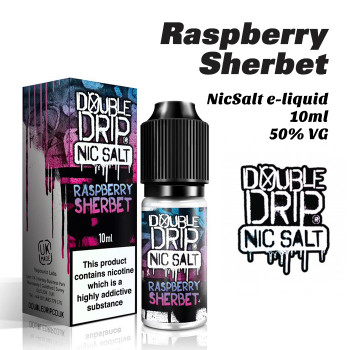 Raspberry Sherbet - Double Drip NicSalt e-liquid 10ml - 20mg