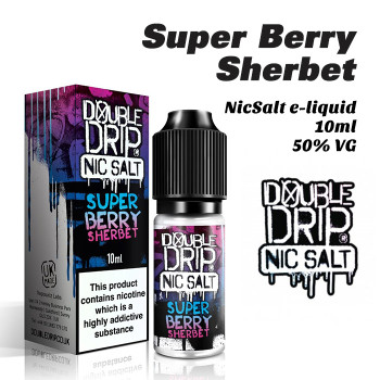 Super Berry Sherbet - Double Drip NicSalt e-liquid 10ml - 20mg