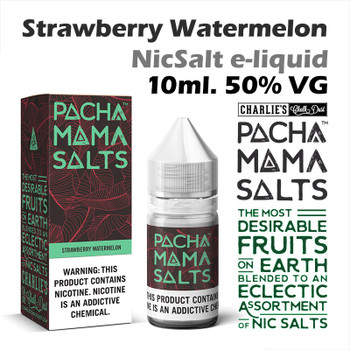 Strawberry Watermelon – Pacha Mama NicSalt e-liquid by Charlies Chalk Dust 10ml