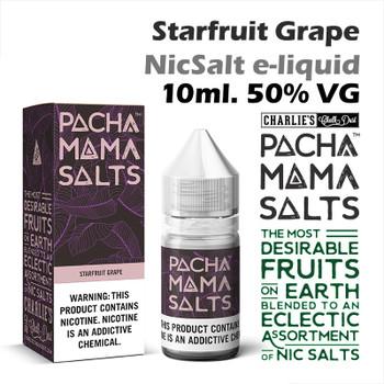 Starfruit Grape – Pacha Mama NicSalt e-liquid by Charlies Chalk Dust 10ml