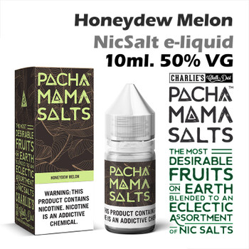 Honeydew Melon – Pacha Mama NicSalt e-liquid by Charlies Chalk Dust 10ml