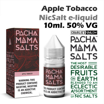 Apple Tobacco – Pacha Mama NicSalt e-liquid by Charlies Chalk Dust 10ml