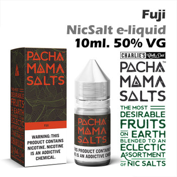 Fuji – Pacha Mama NicSalt e-liquid by Charlies Chalk Dust 10ml