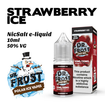 Strawberry Ice – Dr Frost NicSalt e-liquid 10ml