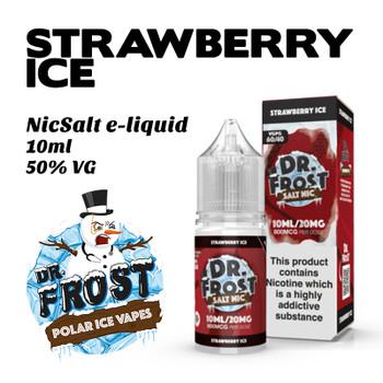 Strawberry Ice – Dr Frost NicSalt e-liquid 10ml