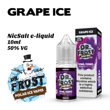Grape Ice – Dr Frost NicSalt e-liquid 10ml