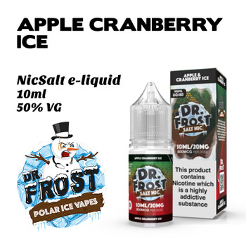 Apple Cranberry Ice – Dr Frost NicSalt e-liquid 10ml