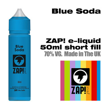 Blue Soda by Zap! e-liquid – 70% VG – 50ml