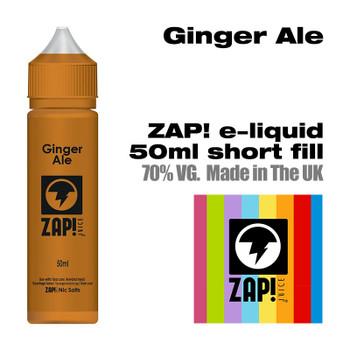 Ginger Ale by Zap! e-liquid – 70% VG – 50ml